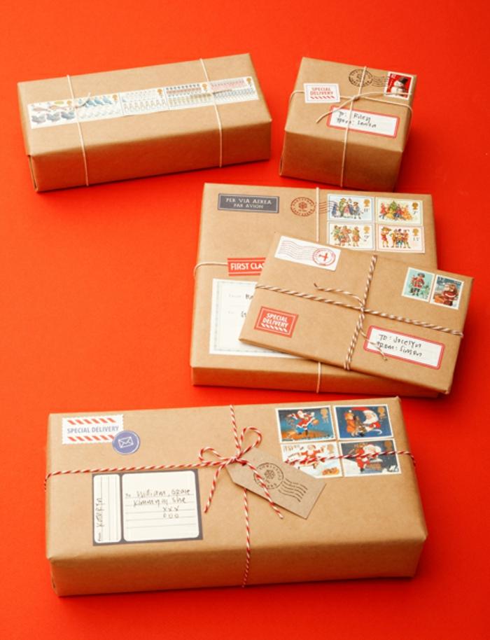 Weihnachtsgeschenke verpacken geschenk verpacken geschenke schön verpacken packpapier