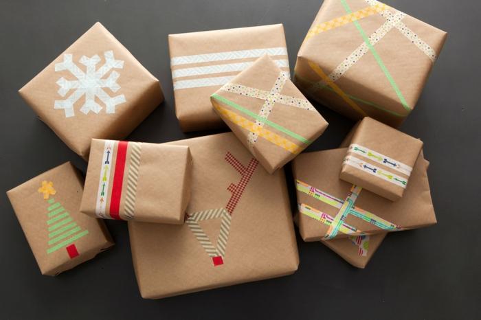 Weihnachtsgeschenke verpacken geschenk verpacken geschenke schön verpacken perönliche applikation
