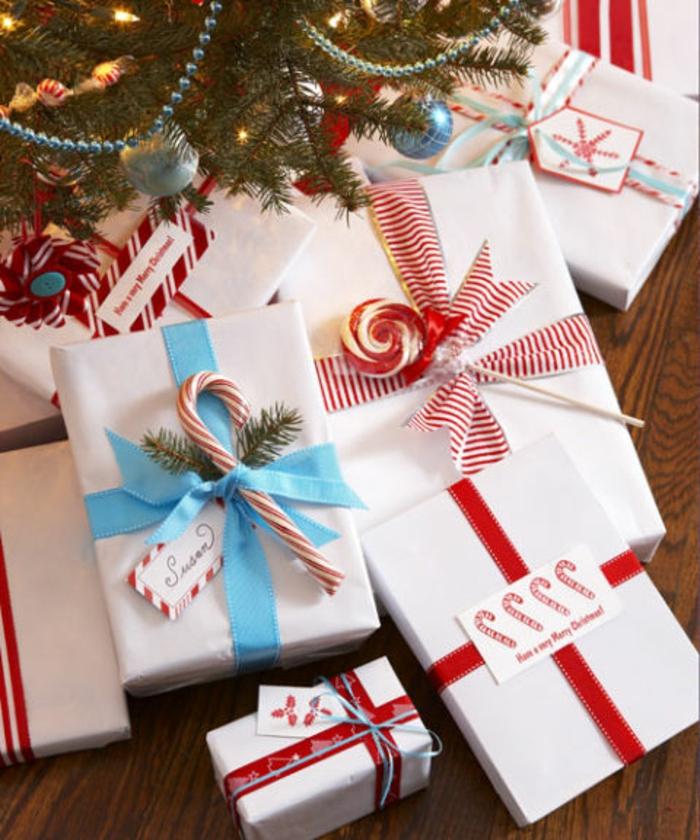 Weihnachtsgeschenke verpacken geschenk verpacken geschenke schön weiss rot