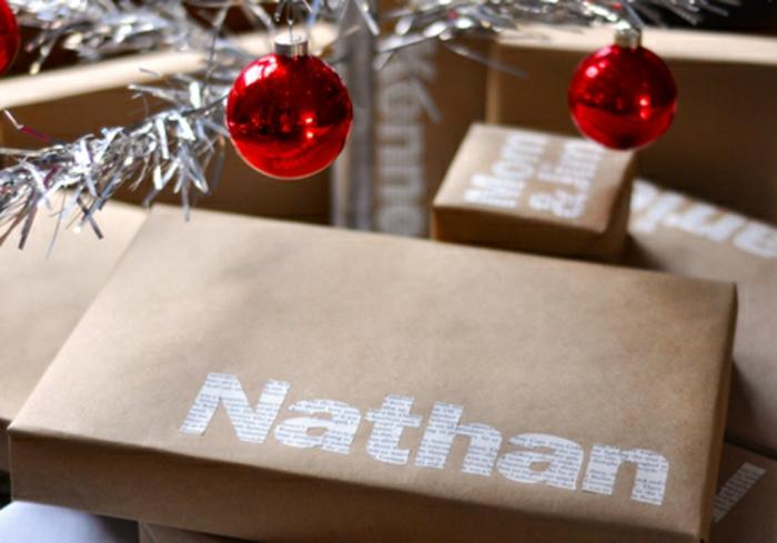 Weihnachtsgeschenke verpacken geschenk verpacken geschenke schön verpacken zeitungsausschnitt