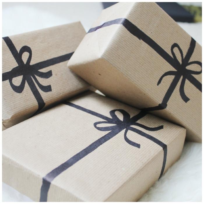 Weihnachtsgeschenke verpacken geschenk verpacken geschenke schön verpacken zum selbst gestalten markerschleife