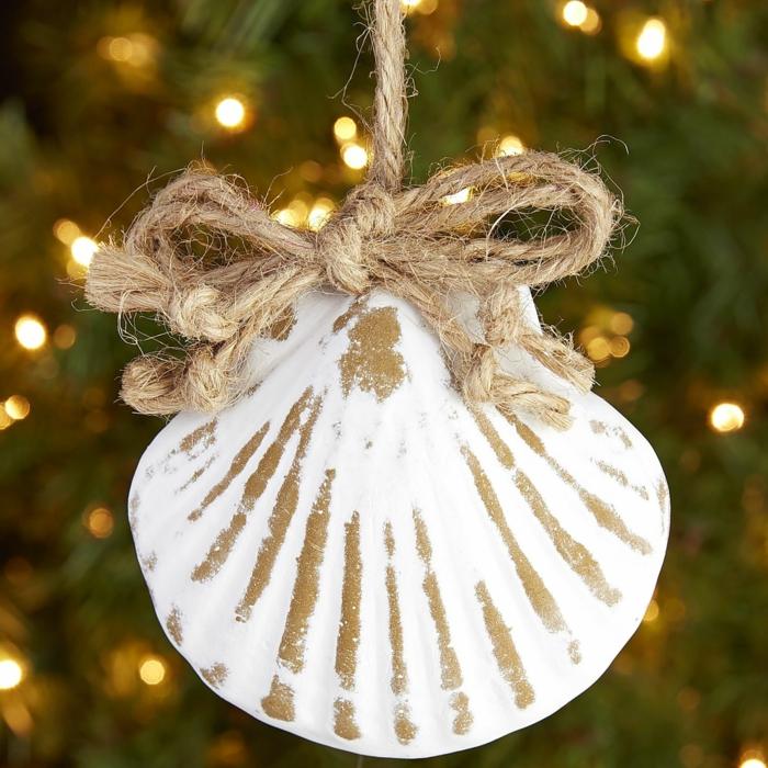 Weihnachtsschmuck bidfaden muschel