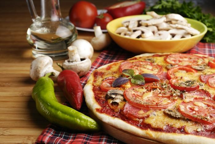 Abnehmen Ohne Hungern Pizza Gemüse