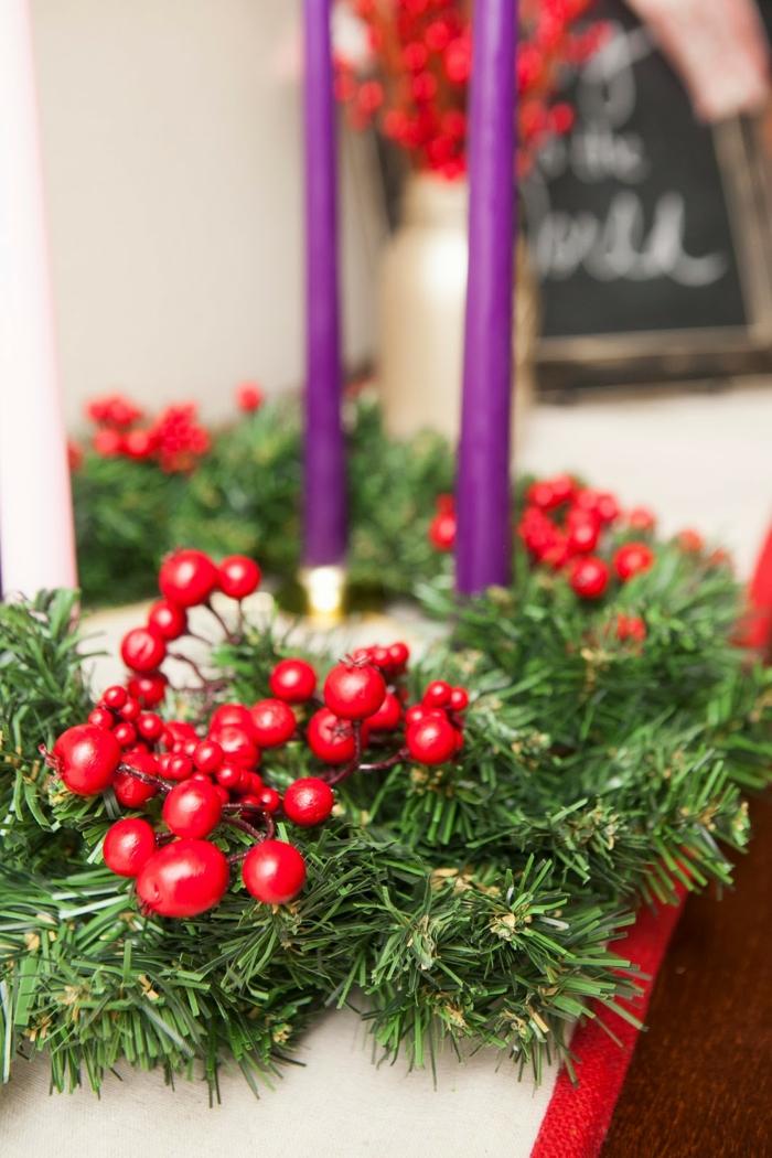 adventskranz dekorieren diy ideen dekoideen weihnachten weihnachtliche bastelideen