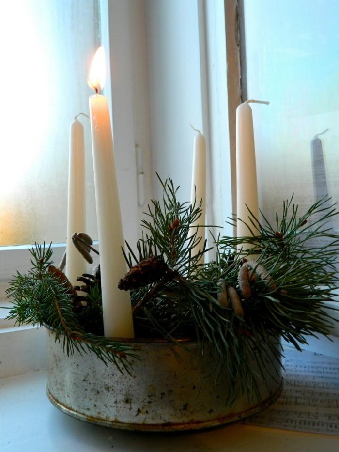 adventskranz ideen dekoideen weihnachten diy ideen