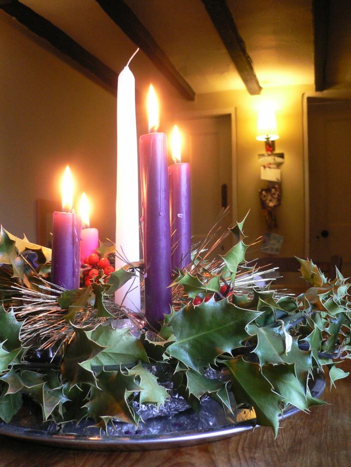 ideen adventskranz dekoideen weihnachten kerzen festliche stimmung