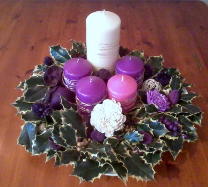 adventskranz dekorieren dekoideen weihnachten stilvoll festlich
