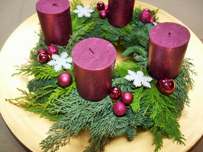 ideen adventskranz diy projekte dekoideen weihnachten festliche tischdeko