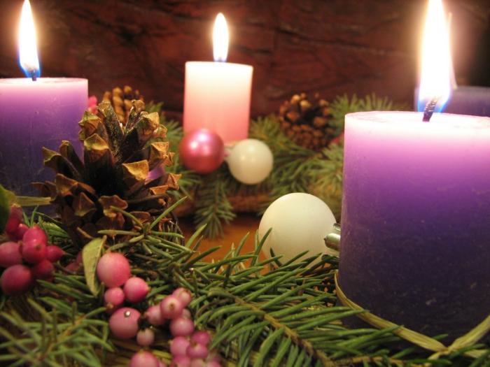 ideen adventskranz kerzen symbol weihnachten festliche tischdeko