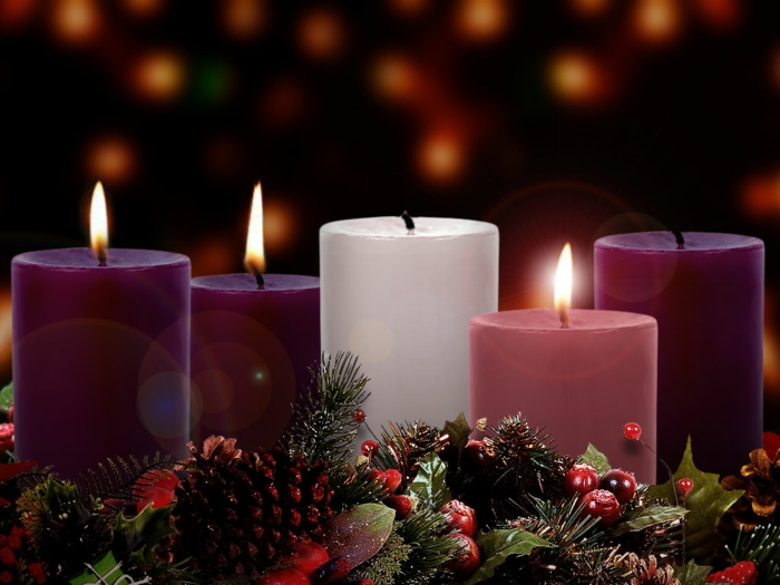 dekoideen weihnachten nuesse zucker rosa