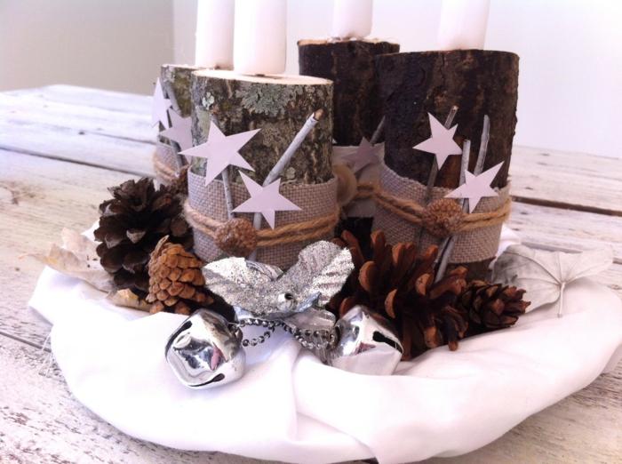 ideen adventskranz originell festliche tischdeko weihnachten