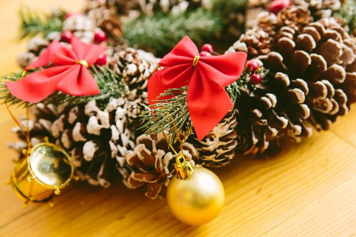 dekoideen weihnachten nuesse zucker teelicht ingwer schnee schleife