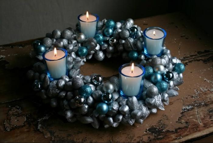 dekoideen weihnachten weiss slber gerade
