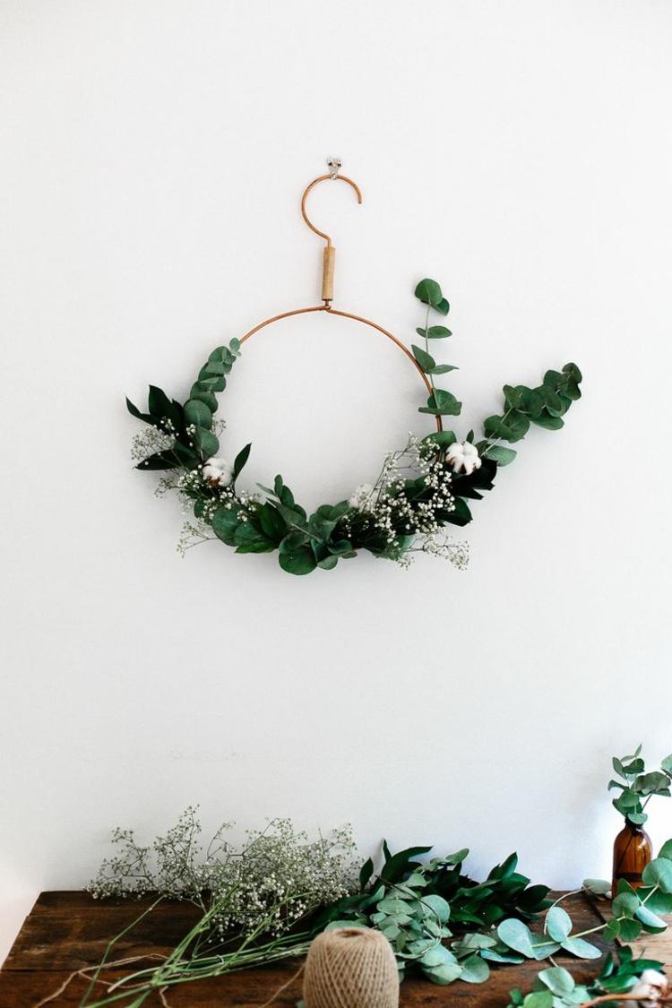 adventskranz modern diy projekte weihnachtsdeko ideen