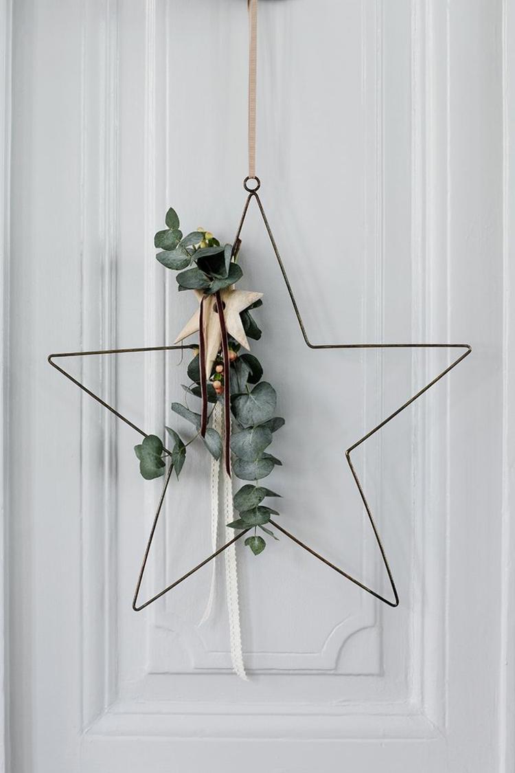 So k nnen sie einen weihnachtskranz selber basteln 50 ideen - Weihnachtsdeko modern ...