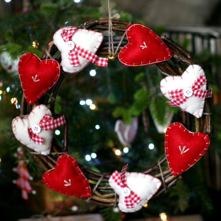adventskranz selber basteln diy projekte weihnachtsdeko nähen