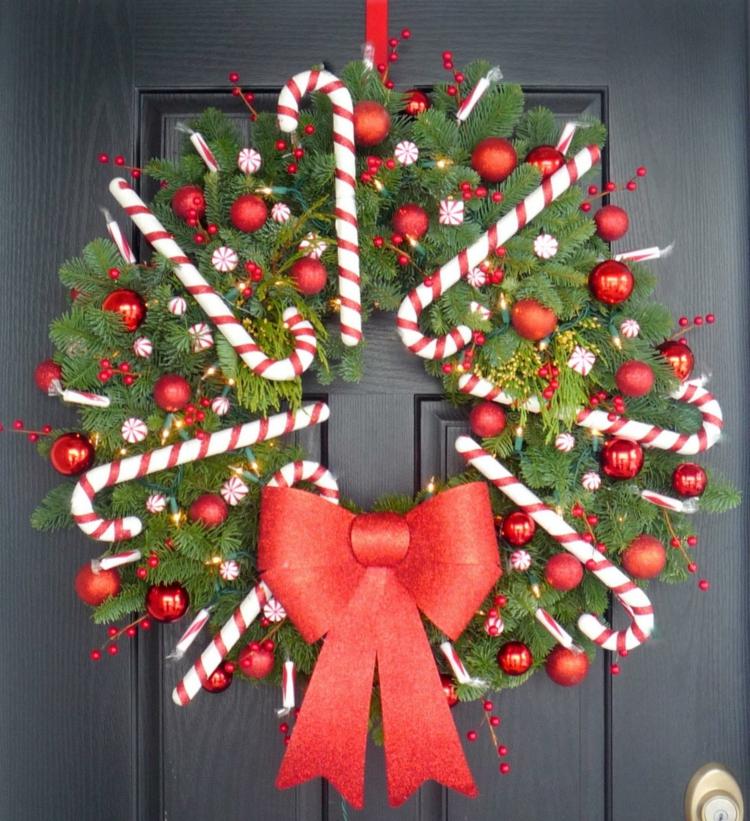 adventskranz selber basteln diy türkranz weihnachtsdeko ideen