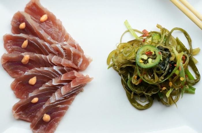 algen essen fisch kombination gesundes essen