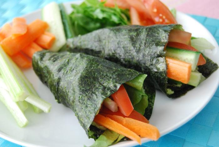 algen essen ideen rezepte röllchen