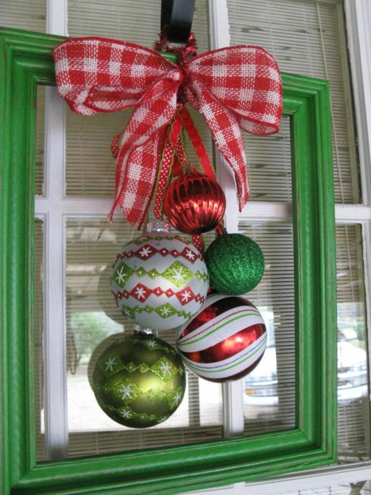 alternativer adventskranz basteln diy projekte weihnachtsdeko holzrahmen