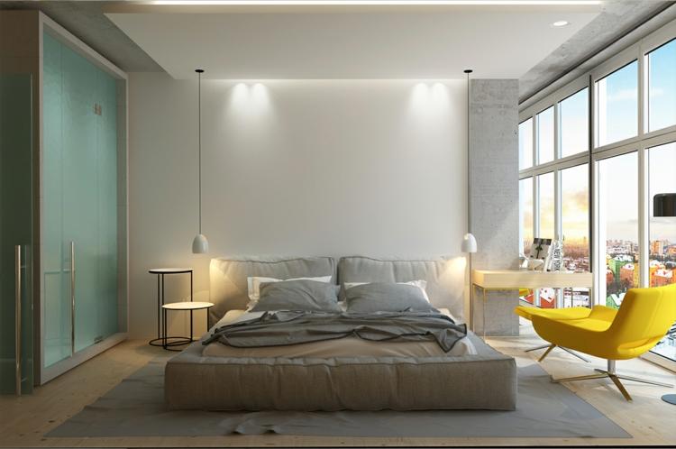 archiplastica moderne inneneinrichtung it apartment schlaftimmer innendesign