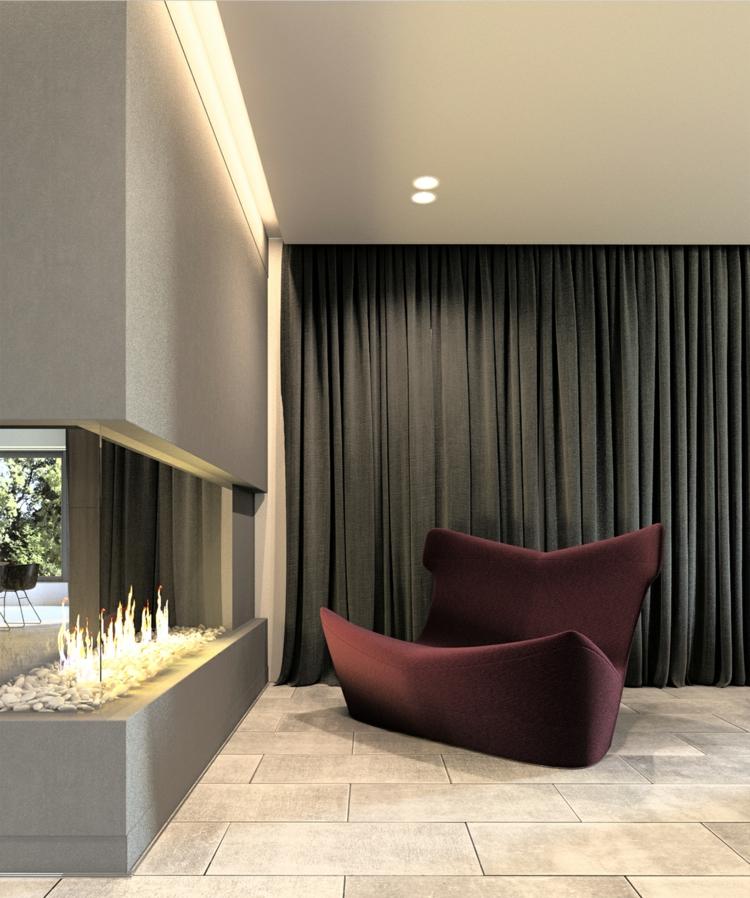 archiplastica stoyanka moderne inneneinrichtung wohnzimmer kamin