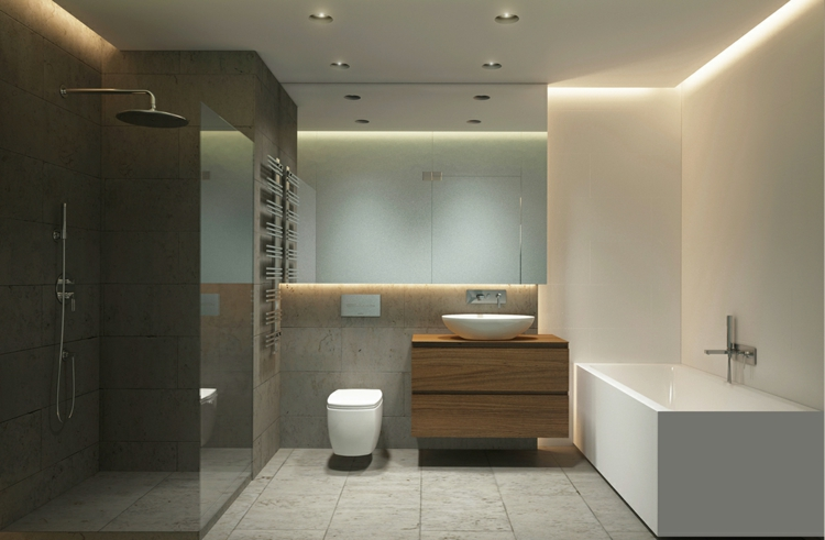 salle de bains sans carrelage