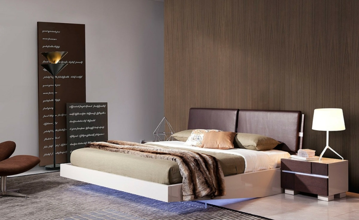 ausgefallene betten hängend schwebendes bett doppelbett bettgestell hochglanz modernmiami