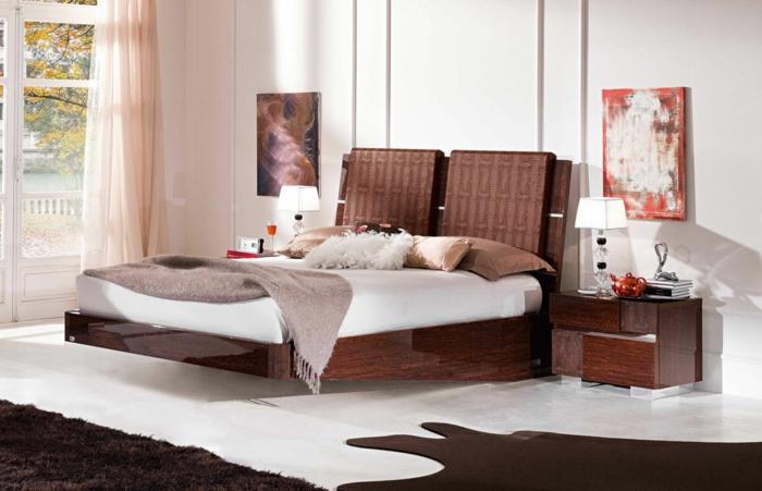 Massivholzbett schwebend  22 ausgefallene Betten Ideen für Ihr stilvolles Schlafzimmer
