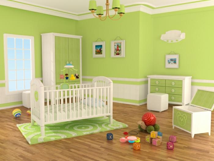 babybett kaufen grüne wandfarbe teppich babyzimmer gestalten