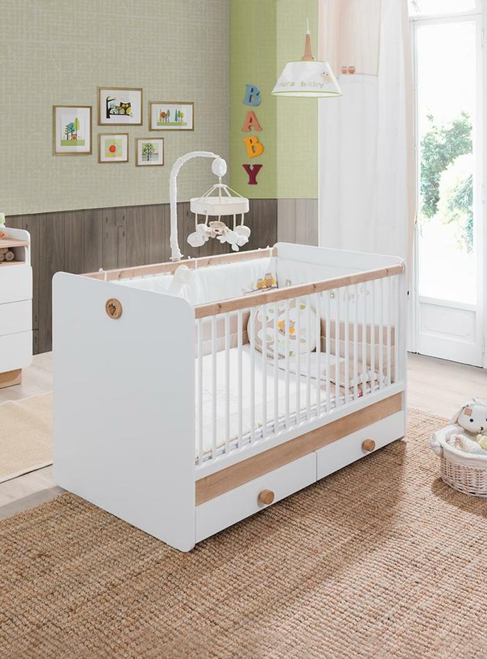 babybett kaufen turbobeds weiß holzakzente babyzimmer einrichten