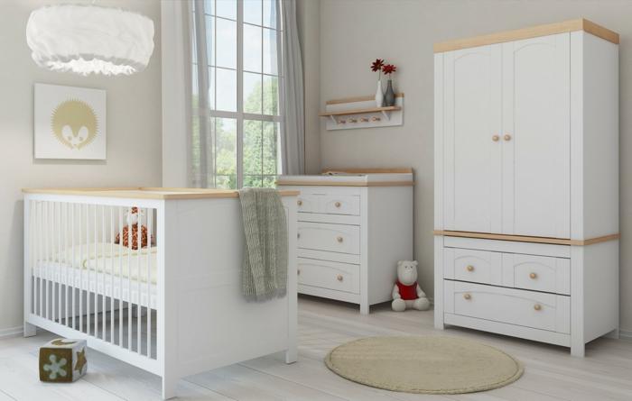 babybett kaufen weißes mobiliar frisches babyzimmer