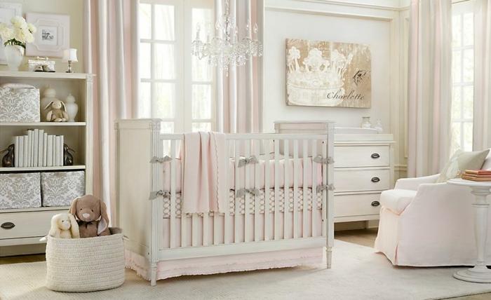 babybetten babyzimmer gestalten helles interieur weißer teppich