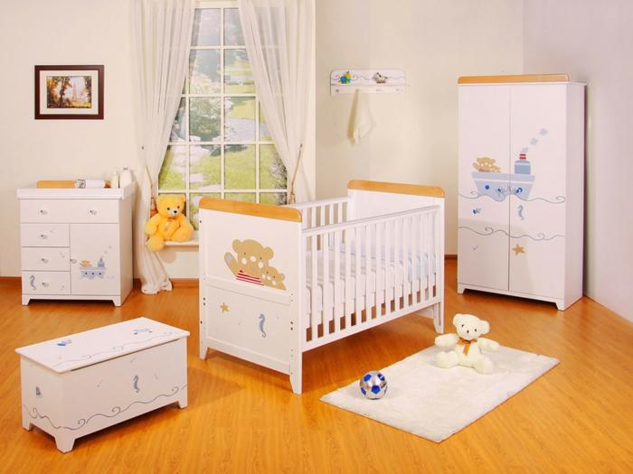 babybetten designs lustige figuren weiße möbel babyzimmer gestalten