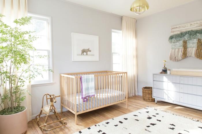 babybetten schlichtes design theanimalprintshop kinderteppich pflanze
