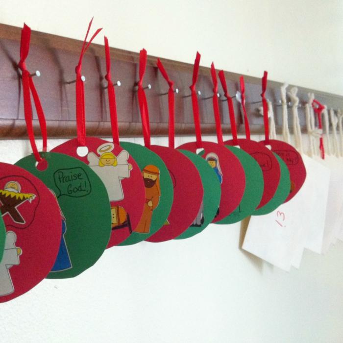bastelideen weihnachten adventskalender dekoideen