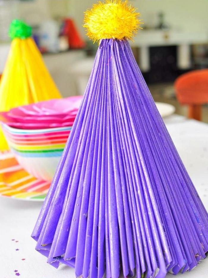 bastelideen weihnachten farbige tischdeko weihnachtliche dekoideen