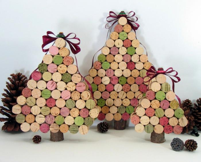 bastelideen weihnachten schöne dekoideen tannenbaum basteln eicheln