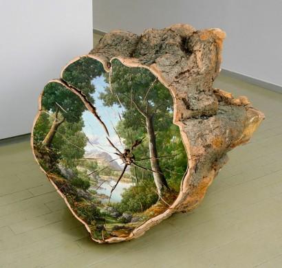 Baumstamm Deko von Künstlerin Alison Moritsugu