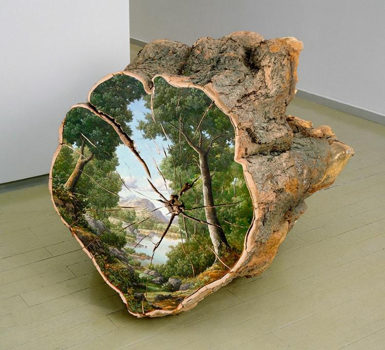 Baumstamm Deko Von Kunstlerin Alison Moritsugu