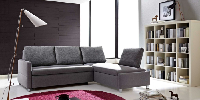 bett mit matratze und lattenrost graues schlafsofa belinda modell. Black Bedroom Furniture Sets. Home Design Ideas