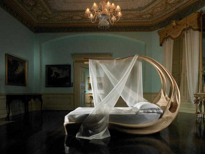 bio möbel bett himmelbett schlafzimmer smarthome