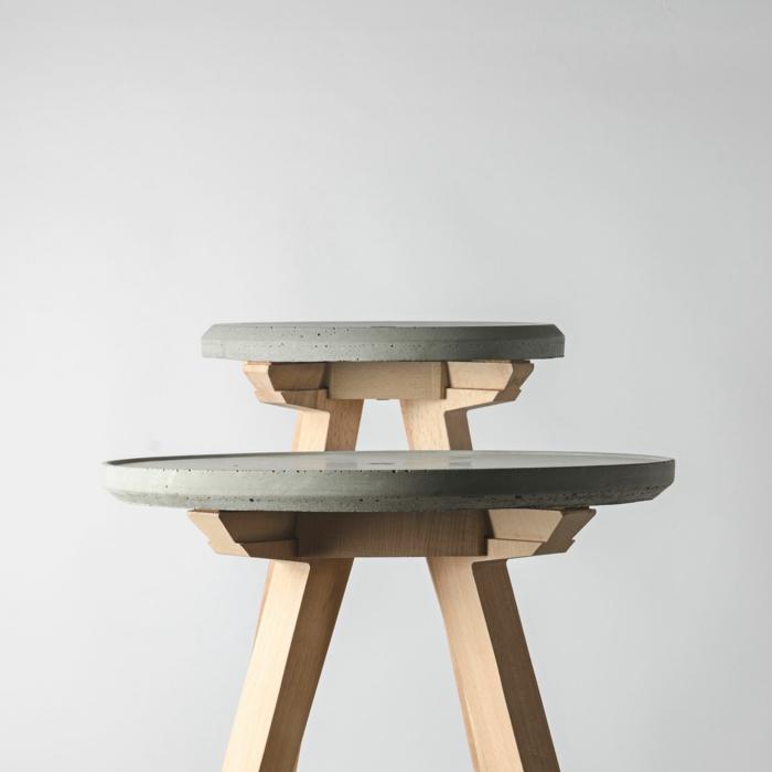 bio möbel hocker beton holz