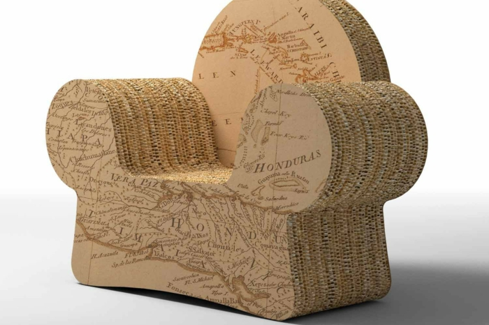 bio möbel recycling sessel pappkarton pregia italien