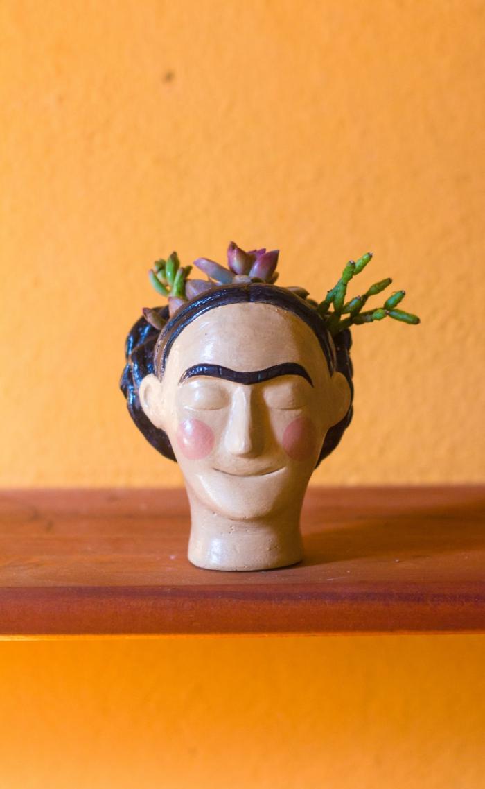 pflanzkübel zimmerpflanzen keramik übertopf frida kahlo