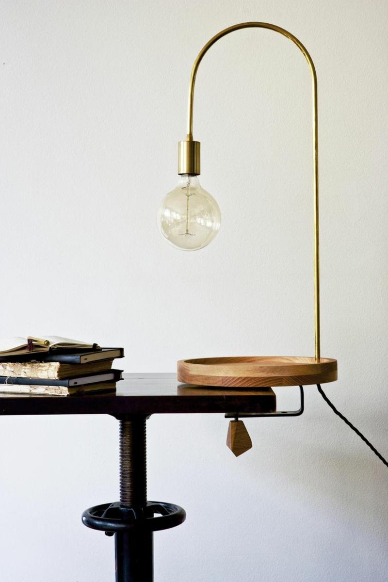 bueroarbeitsplatz home office gestalten bürolampe schreibtischlampe