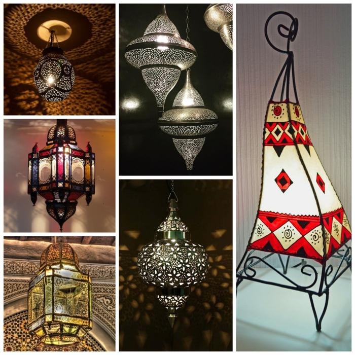 Orientalische Lampen dekorativ geworfen lampen bunt
