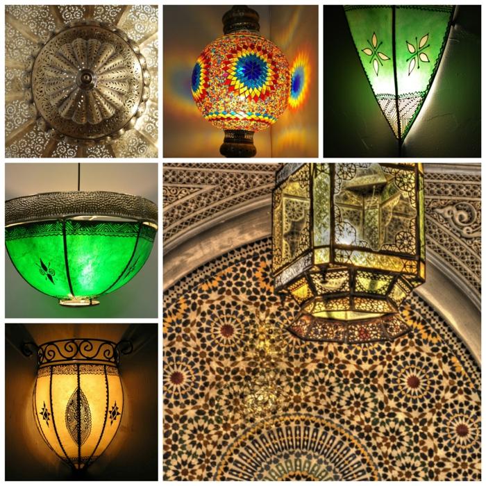 Orientalische Lampen dekorativ geworfen lampen orient
