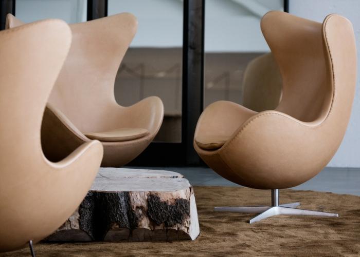 design skandinavisch wohnen egg chair arne jacobsen