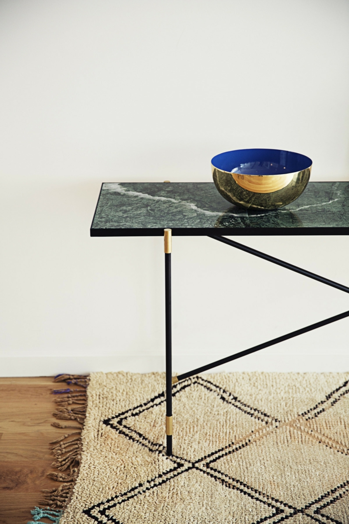 dänisches design skandinavisch wohnen goldglänzende ovale schale